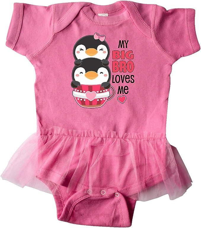 Cute Teacup Penguins Little Toddler T-Shirt inktastic My Big Sis Loves Me
