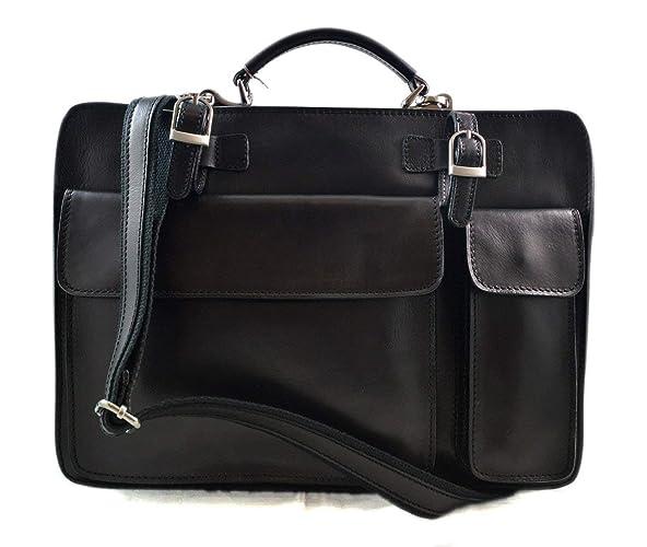 415cbaf6f Carpeta de piel cartera de cuero bolso de mano bolso de hombre bolso de  mujer bandolera