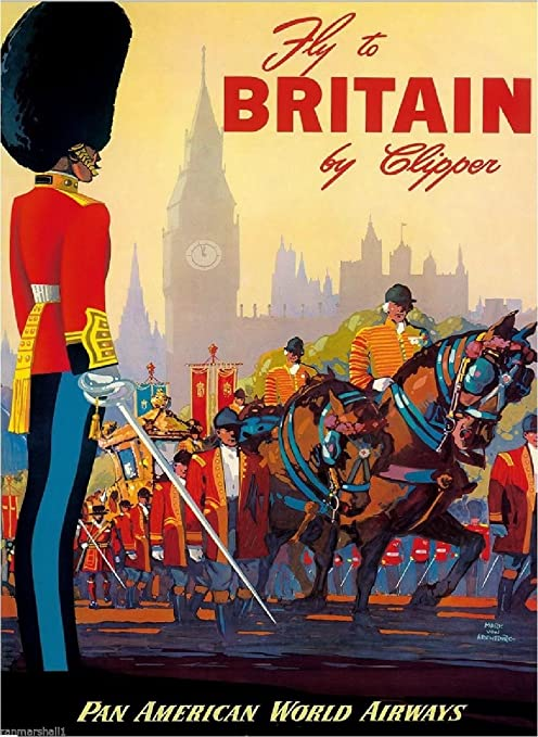 United Kingdom England Vintage Great Britain Europe Travel Advertisement Poster