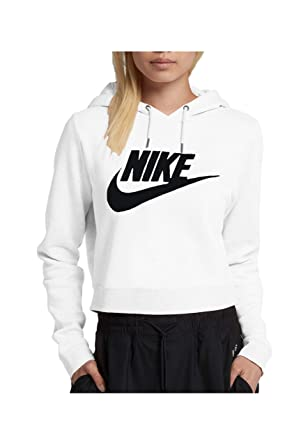 526d2b68c1a0 Amazon.com  Nike Women s Sportswear Rally Cropped Hoodie (L