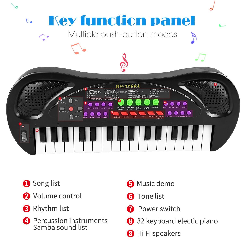 Amazoncom Zjtl Kids Piano32 Keys Toddler Keyboardmultifunction