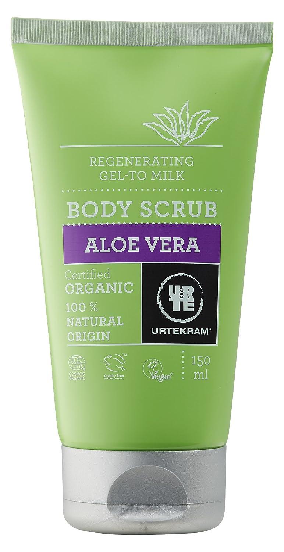 Urtekram Aloe Vera Body Scrub Bio, Gel-zu-Milch Effekt, 150 ml 83613