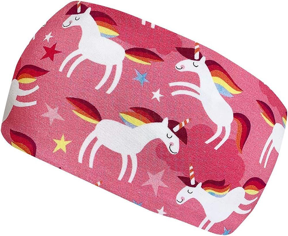 Wollhuhn Girls Headband Happy Unicorn Rosa One Size