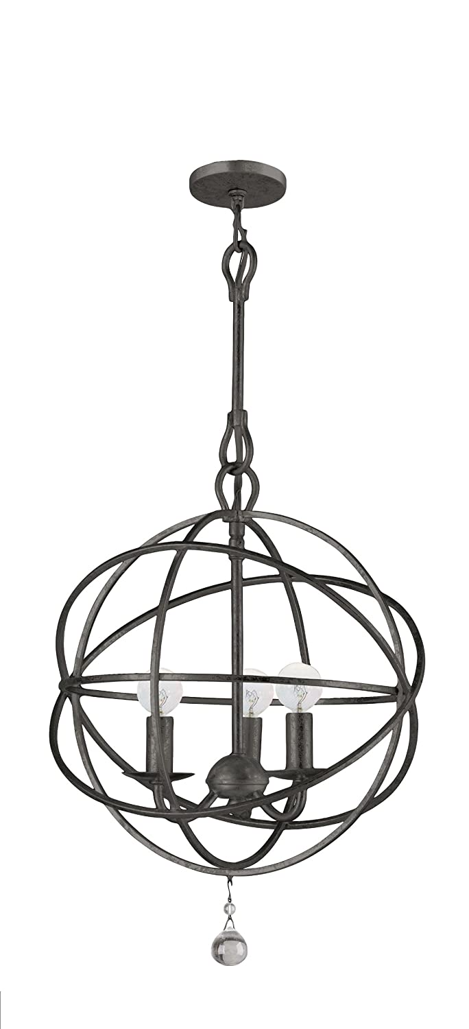 Amazon crystorama 9225 eb traditional three light mini amazon crystorama 9225 eb traditional three light mini chandeliers from solaris collection in bronzedarkfinish home improvement aloadofball Images