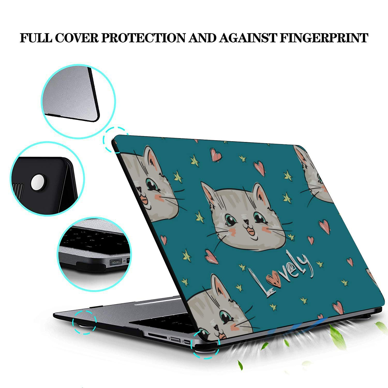 Laptop Protector Smart Well-Behaved Cute Cat Animal Pet Plastic Hard Shell Compatible Mac Air 11 Pro 13 15 Laptop Case 13 Inch Protection for MacBook 2016-2019 Version