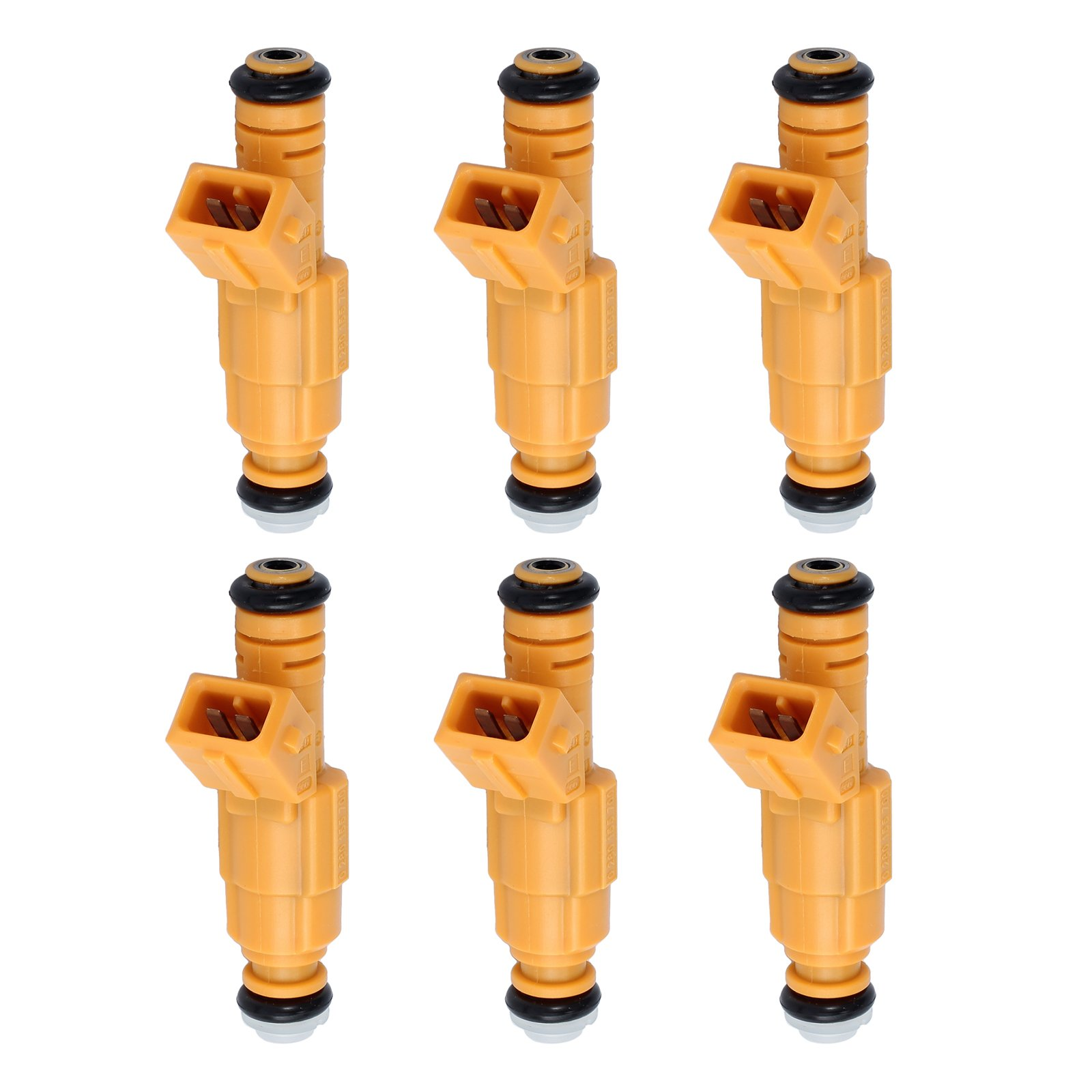 Neoteck 6pcs Fuel Injectors 4Hole For Jeep 87-98 4.0L Replace 0280155710 0280155700 by Neoteck