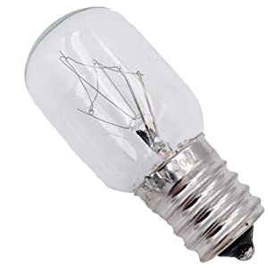 Supplying Demand WB25X10030 Microwave Light Bulb 125 Volt 40 Watt Fits AP5809052