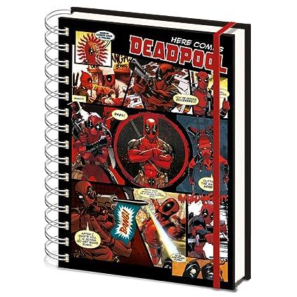 Deadpool SR72146 - Cuaderno tamaño A5, diseño de cómics