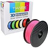 TIANSE Fluorescent Pink 3D Filament PLA 1.75mm 1KG Spool, Dimensional Accuracy +/- 0.03 mm