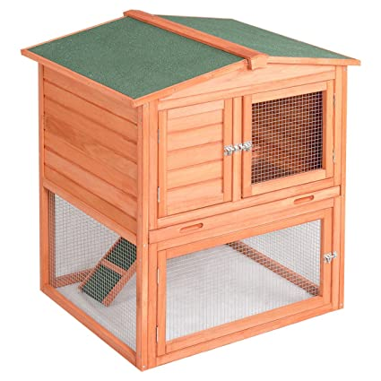 Amazon.com : BUY JOY Pet Wooden House Rabbit Hutch Bunny en ... on landscape design, perennial garden design, fireplaces design,