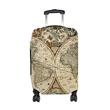 Mydaily vintage world map travel luggage cover spandex protector mydaily vintage world map travel luggage cover spandex protector fits 18 32 inch suitcase m gumiabroncs Image collections