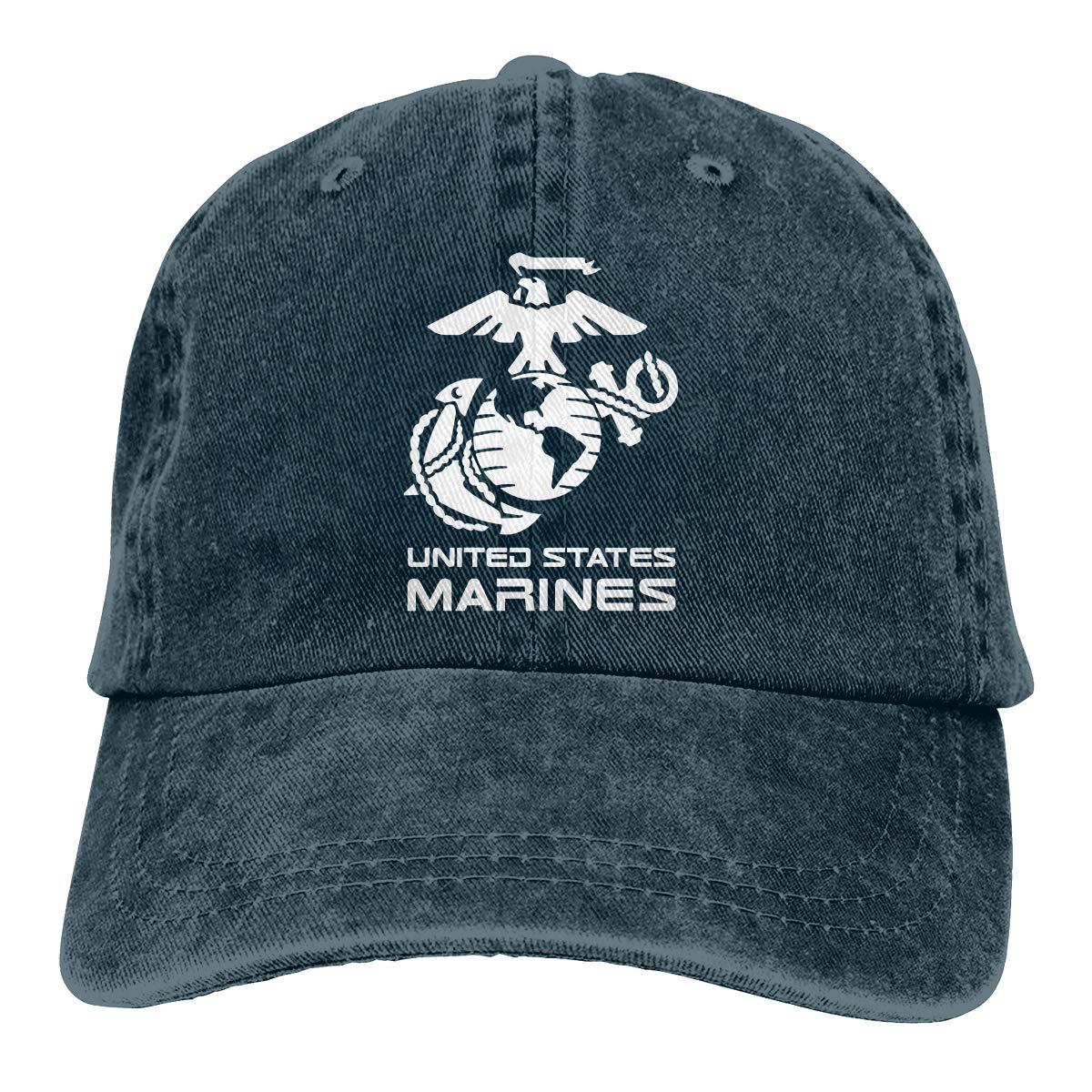 United States Marine Corps Fashion Adjustable Cowboy Cap Baseball Cap for Women and Men