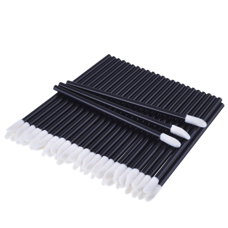 100 Stück Einweg Lippenpinsel Stick Lippenstift Pinsel Gloss Stab Applikatoren, Schwarz eBoot