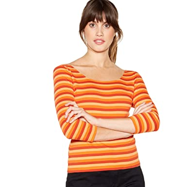 10fd3d409c1dcc Debenhams J by Jasper Conran Womens Orange Stripe Print Cotton Top: J by Jasper  Conran: Amazon.co.uk: Clothing
