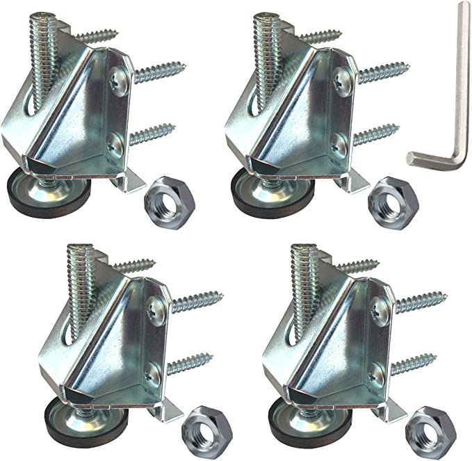 SUNMALL 4 Pack Leveling Feet Heavy Duty Furniture Levelers Adjustable Table Le