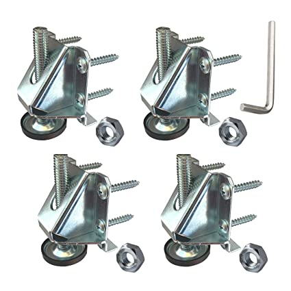 Pleasing Heavy Duty Leveler Legs W Lock Nuts Leveling Feet For Furniture Cabinets Workbench 4 Pack Squirreltailoven Fun Painted Chair Ideas Images Squirreltailovenorg