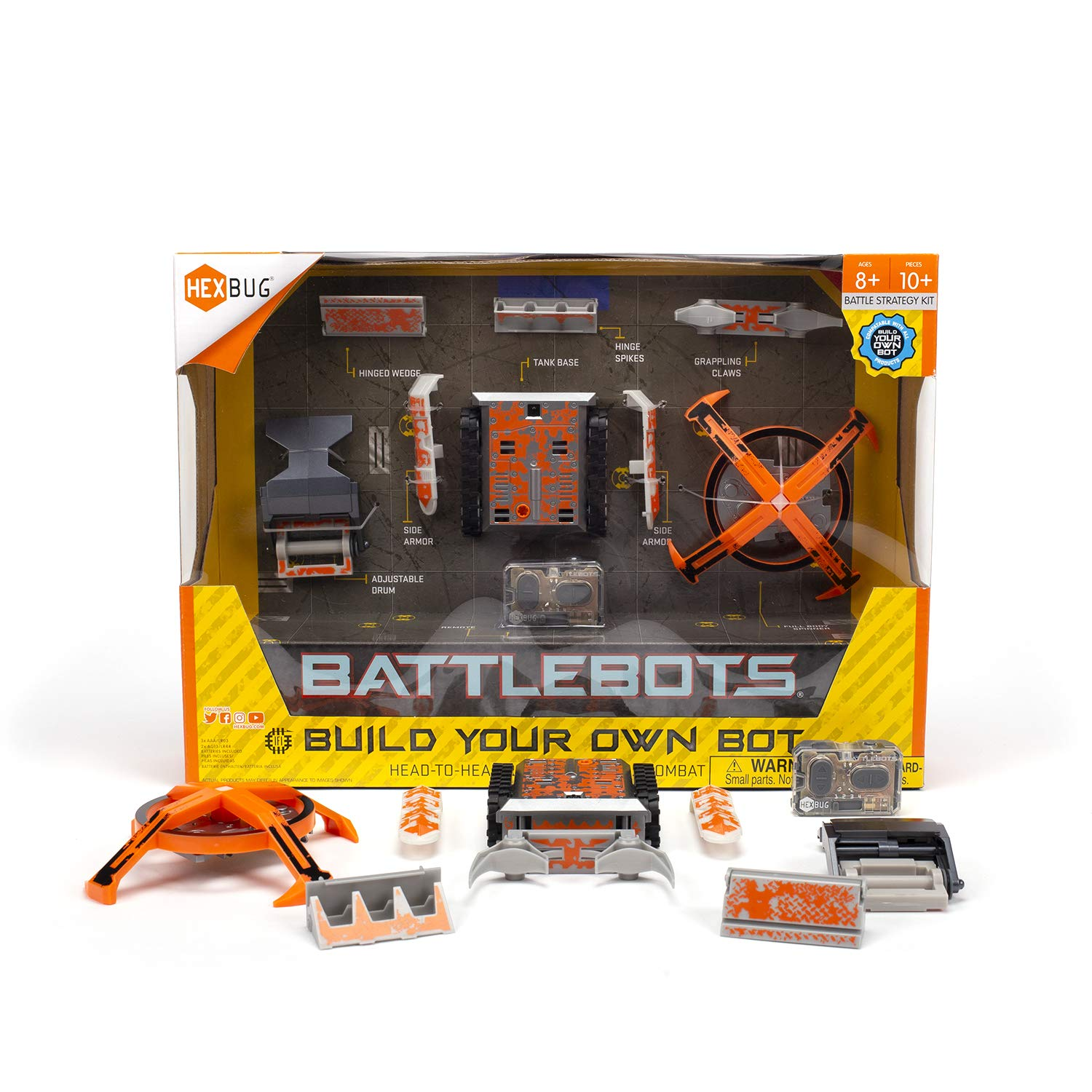 HEXBUG BattleBots Build Your Own Bot Tank Drive, Toys for Kids, Fun Battle Bot Hex Bugs by HEXBUG (Image #1)