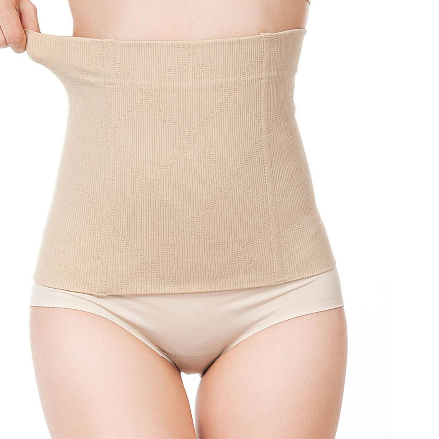 499033fb3 LACE AND ME Tummy Tucker Corset Belt for Women Body Shapewear Look Slim  Instantly Beige  Amazon.in  Clothing   Accessories