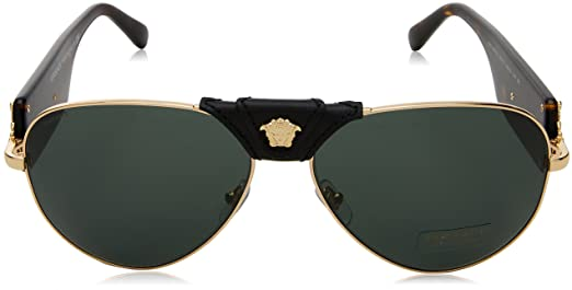 af42dbb882e5c Amazon.com  Versace Mens Sunglasses Gold Grey Metal - Non-Polarized - 62mm   Versace  Clothing