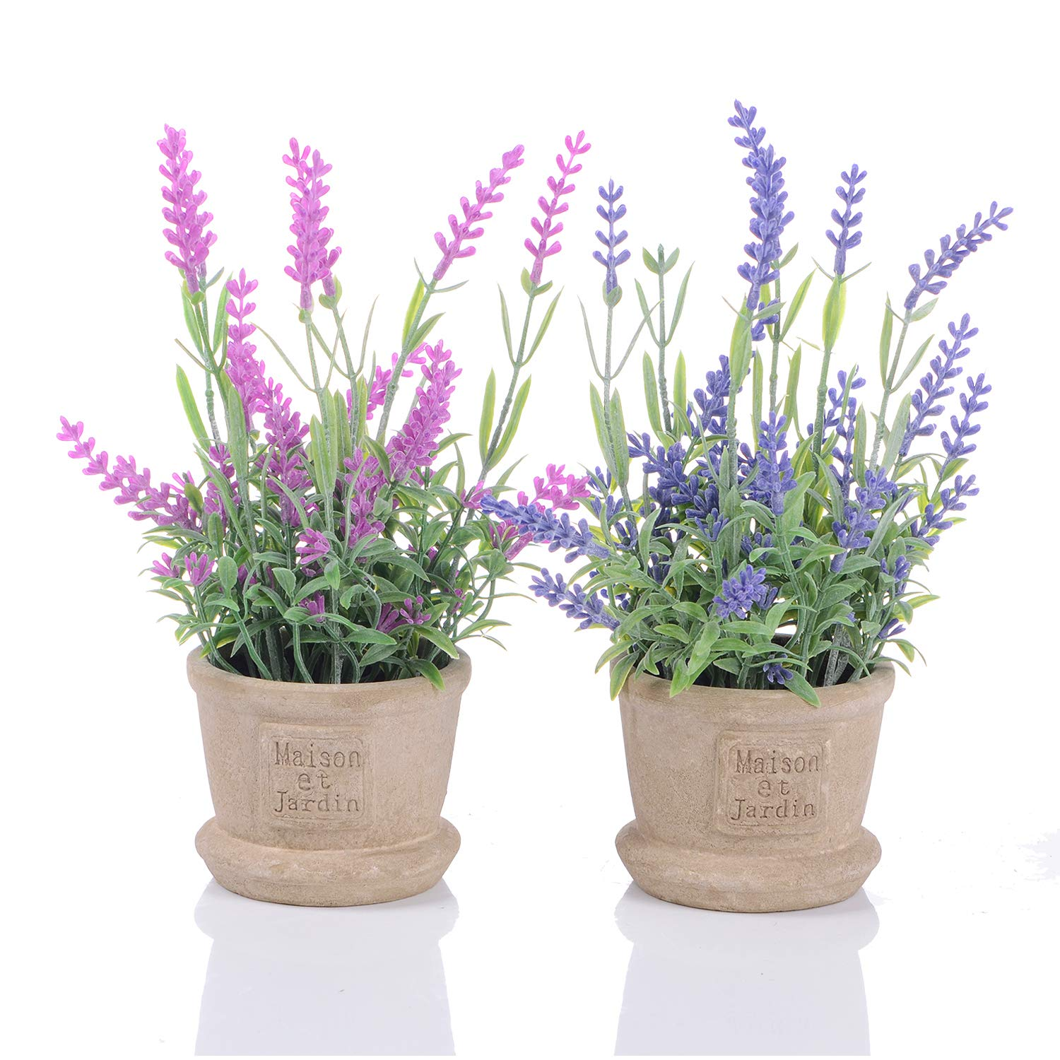 YQing Lavender Artificial Flower Pot - 2 Pack Fake Potted Plants with Decorative Fake Lavender Flowers for House Decorations(Pink and Purple) Amazon.co.uk ...  sc 1 st  Amazon UK : flower pot decorations - startupinsights.org