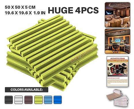 ACE Punch 4 Piezas Metro De La Raya Aislamiento Acústica Estudios Profesionales Espuma Absorción Tratamiento Conjunto