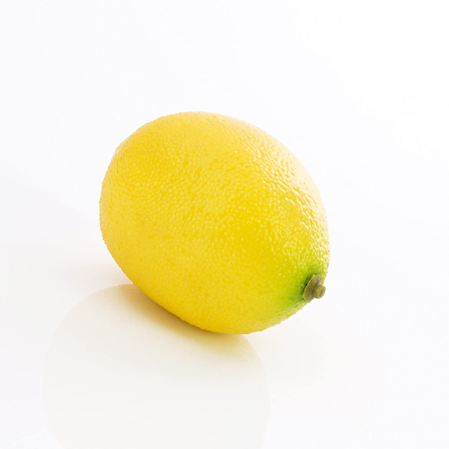 artplants Citron artificiel, jaune, 7 cm, Ø 5 cm - Fruit artificiel/Citron en plastique