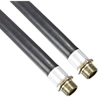 1//2 JIC Female Connection 1//2 ID Unisource TSC Gray PTFE Chemical Hose Assembly 48 Length 2000 PSI Maximum Pressure
