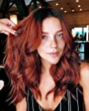K'ryssma Copper Ombre Lace Front Wig with Dark Roots Wavy Bob Synthetic Wig Heat Resistant Short Bob Wigs for Women…
