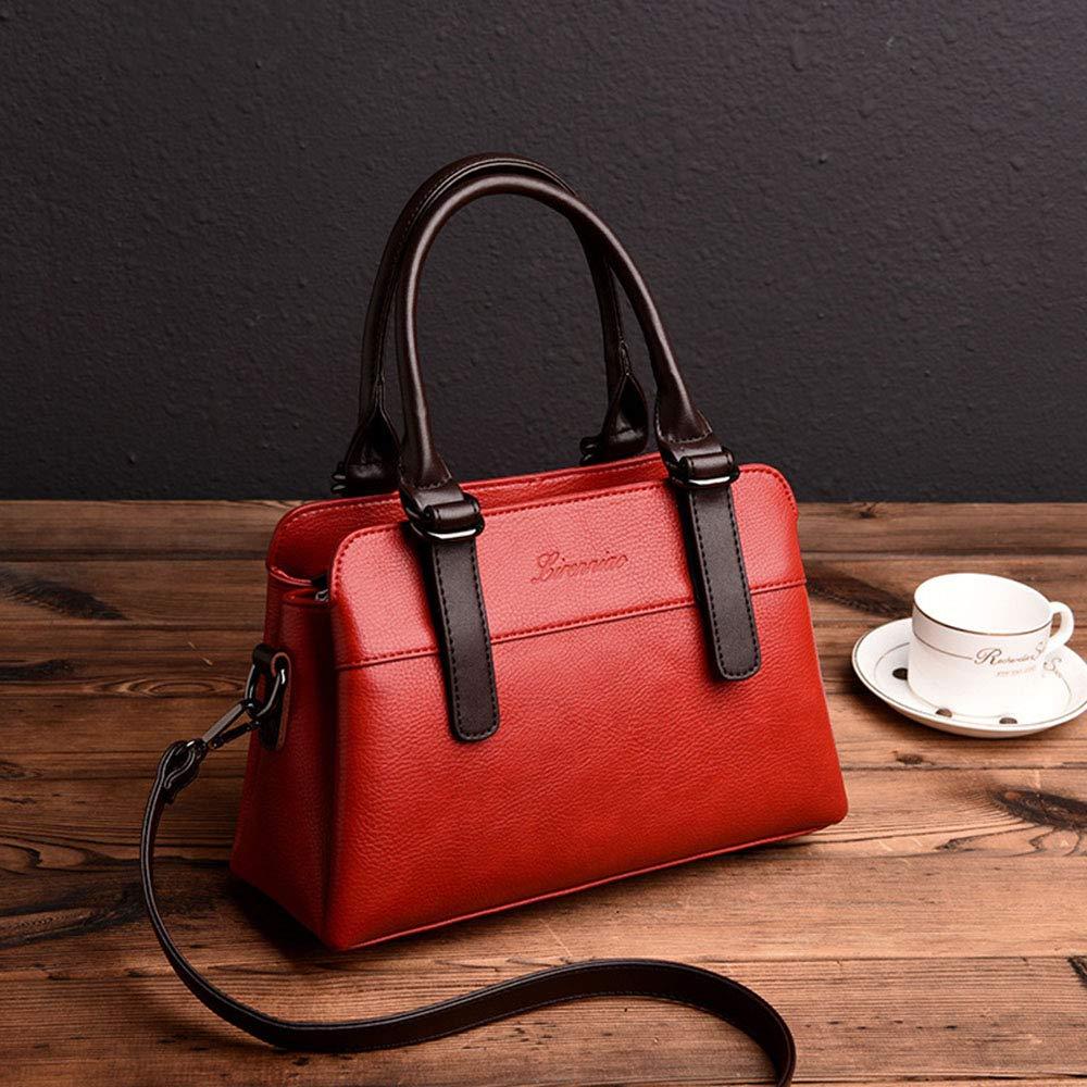 DRHYSFSA-Bags Damenhandtasche Damentasche Große Tasche Damen Umhängetasche Große Kapazität Diagonale Tragbare Tasche für Zwei Zwecke Geschenk für Damen (Color : Yellow) Red