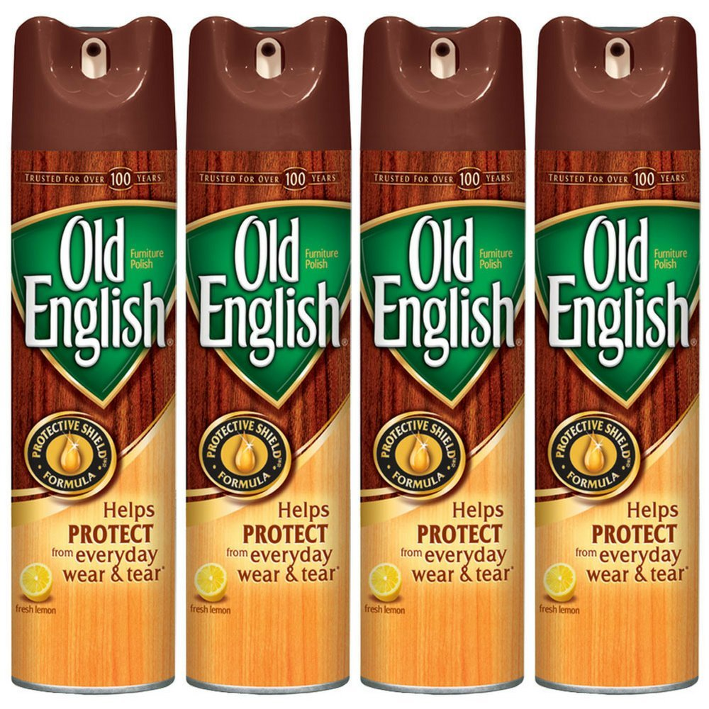 Old English Furniture Polish, Lemon 12.5 oz Can (Pack of 4)