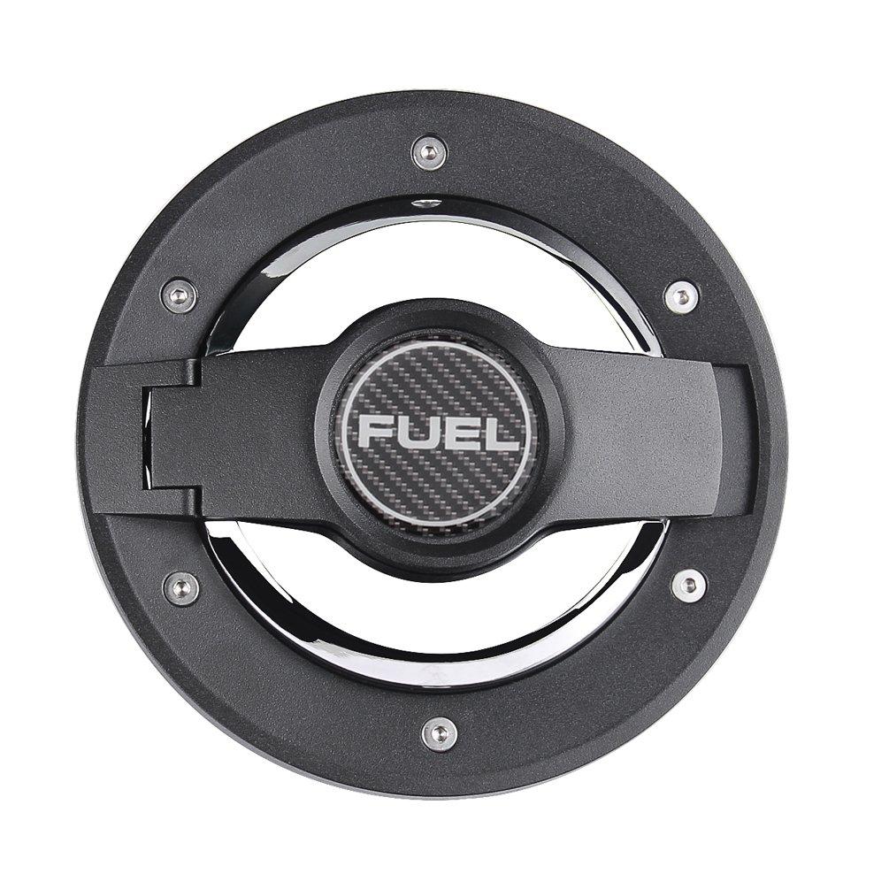 Silver Fuel Filler Door Cover Gas Tank Cap for 2007-2017 Jeep Wrangler JK /& Unlimited 4-Door 2-Door Stainless