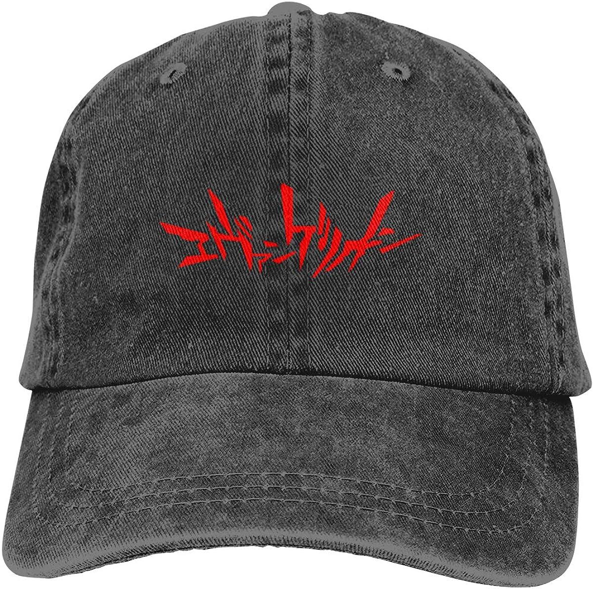 Neon Genesis Evangelion Hat Adult Adjustable Sun Vintage Washed Denim Caps Hats for Outdoor