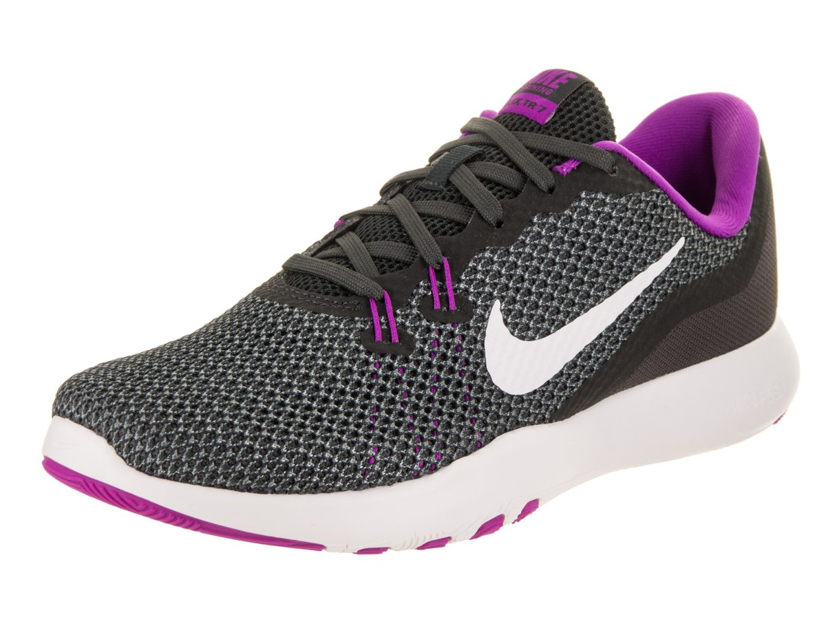 Nike Women's Flex Trainer 5 Shoe B01N5HTS3C 8.5 B(M) US|Anthracite/White/Dark Grey/Hyper Violet