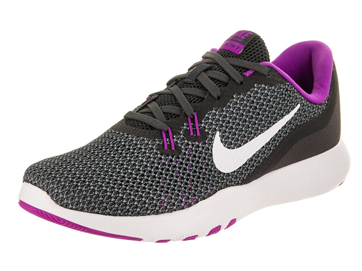 12e482cca6714 Amazon.com | Nike Womens Flex Trainer 7 Anthracite/White/Dark/Grey Training  Shoe 10 Women US | Road Running