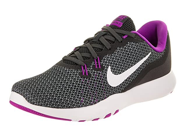 Nike Womens Flex Trainer 7 Anthracite/White/Dark/Grey Training Shoe 6.5 Women US