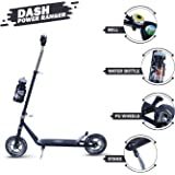 DASH 2 Wheel Heavy Duty Scooter for Boys | Kids, Skate Scooter for Kids with bottel Stand, 3 Level Adjustable Height and Suspension Rear Brake, Upto 10 -12 Years, Capacity 45kg (Black)
