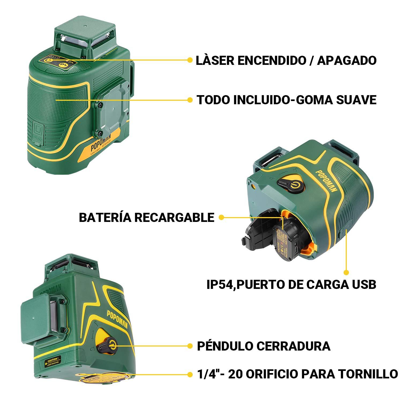 MTM340B Nivel l/áser POPOMAN 8 L/ínea
