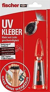 Fischer 545866 UV, 1 x Doble aushärtendes pegamento Sistema, 4 G, pegado Reparar