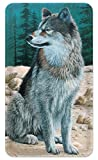 Amped Art Pocket-Sized 5000mAh Ultra Compact Portable Battery Charger External Power Bank Superior Charging Speed for iPhone, Samsung and Other Smartphones - Wolf