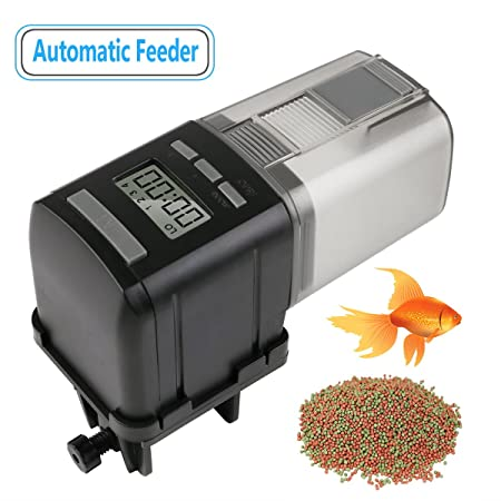 RCruning-EU Alimentador Automático Acuario de Peces Comedero Peces Automático con Pantalla LCD y el Tiempo de Alimentación Configuración, Adecuado para ...