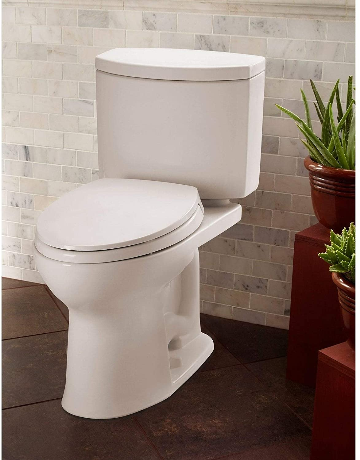 best comfort height toilets: TOTO CST454CEFG#01 Drake II 2-Piece Toilet