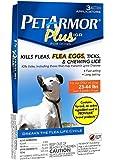 Pet Armor PLUS IGR For Dogs Kills Fleas Ticks & Lice 23-44 lbs, 3 Applicators