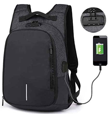 de7979ac9e RIONA Laptop Backpack 14.1 Inch Expansion Daypack Coded Lock Anti Theft  with USB Port Water