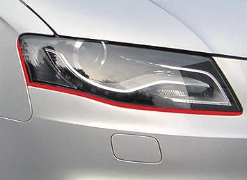 passend f/ür Ihr Fahrzeug Devil Scheinwerfer Aufkleber Stripes in rot