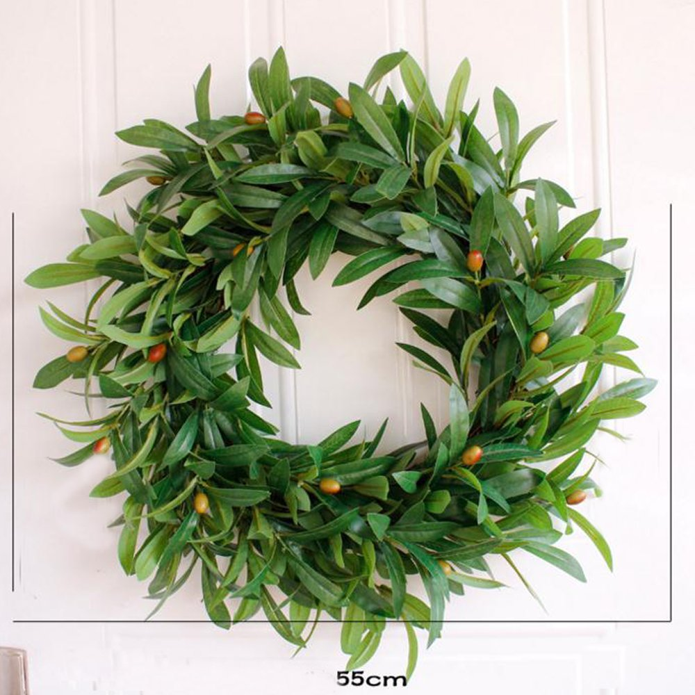 Wedding Door Olive Wreath Summer Wreaths Front Door Wreaths Everyday Vintage Wreath,Greenery Year Round Wreath