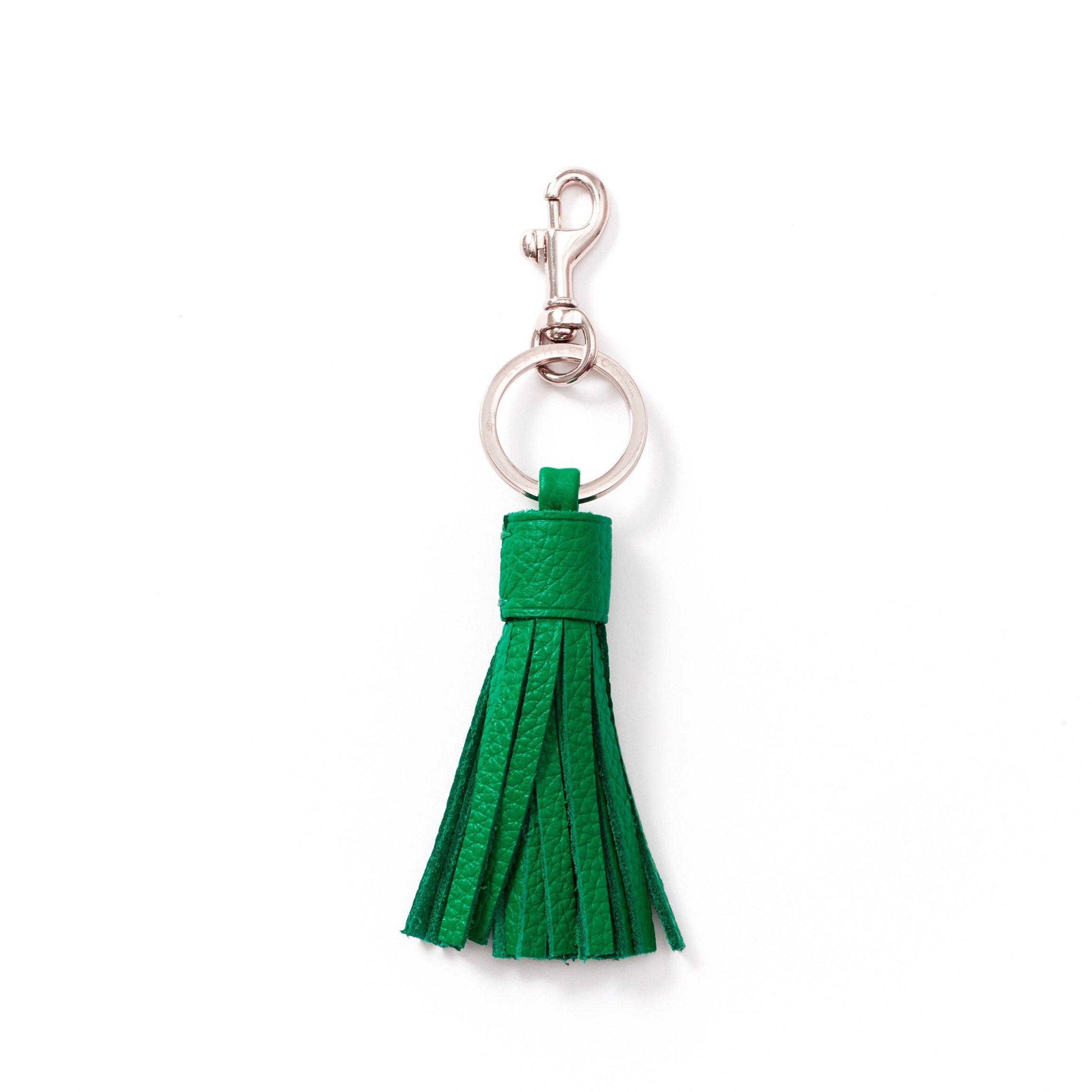 Tassel Key Chain - Full Grain Leather - Kelly Green (green)