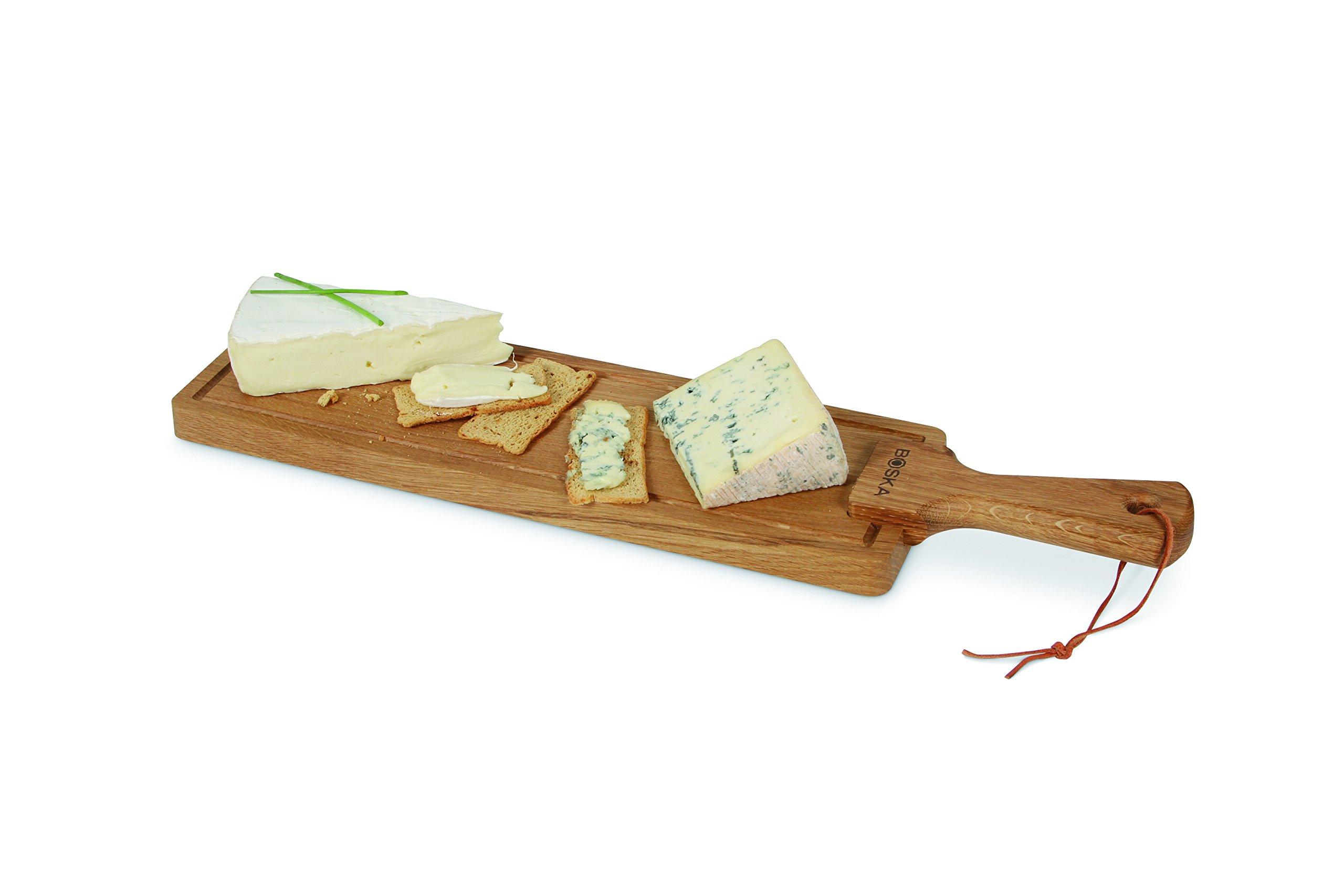Boska Holland European Oak Wood Cheese Board, Rectangle Paddle Board, 21'' x 4.75'', Life Collection