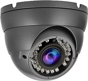 Anpviz 2MP Analog CCTV Camera HD 1080P 4-in-1 (TVI/AHD/CVI/CVBS) Dome Security Camera, 2.8-12mm Varifocal Wide Viewing Angle Weatherproof indoor outdoor Eyeball Camera for Home Video Surveillance Grey
