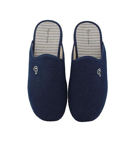 Garzón - Zapatillas de casa Chinela Hombre Marino - Marino, 44: Amazon.es: Zapatos y complementos