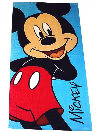 Offical Disney Character Mickey Mouse Kids 70cm x 140cm 100/% Cotton Bath Towel